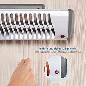 Reer Wickeltischstrahler EasyHeat Flex, Heizstrahler mit Standfuß, Wärmelampe fürs Baby, kompaktes Design weiß