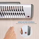 Reer Wickeltischstrahler EasyHeat Flex, Heizstrahler mit Standfuß, Wärmelampe fürs Baby, kompaktes Design weiß - 6