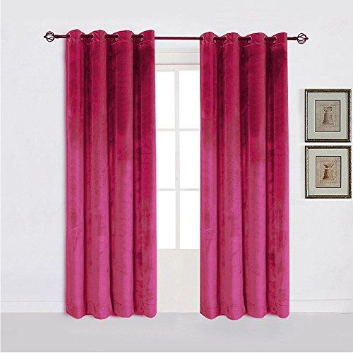 cortinas terciopelo rosa fucsia