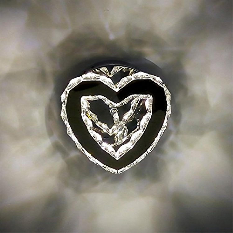 MYY Kristall LED Rostfreier Stahl Wandlampe Kreativ Herzfrmig Schlafzimmer Restaurant Gang Beleuchtung,WarmWeiß