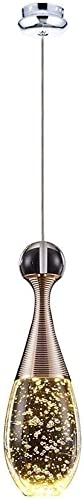 Plafonnier moderne et créatif à LED, acier inoxydable et aluminium, lampe suspendue Crystal Blast, suspension à atmosphère rohommetique 5W 3000K [Classe énergétique A ++] (Haute qualité)