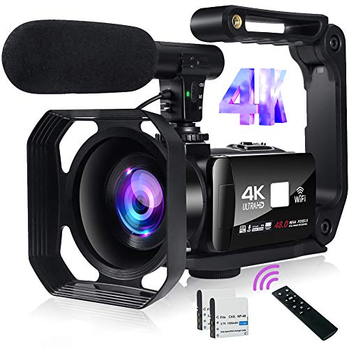 Video Camera 4K Camcorder 48MP Image...