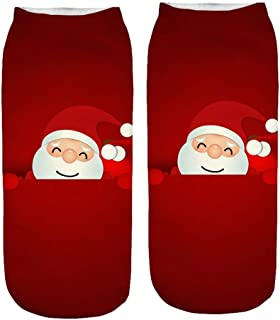 Lazzboy Socken 3d Christmas Santa Elk Printing Medium Sports