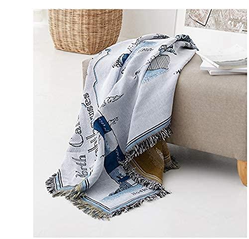 XHNXHN 130cm x 160cm Borlas Sofá Manta para sofá/Funda para Silla, Colcha, Manta Decorativa, Suave, Elegante, Ligera, Estilo Manta de cama2