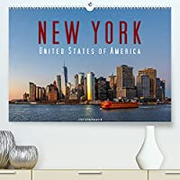 New York - United States of America (Premium, hochwertiger DIN A2 Wandkalender 2022, Kunstdruck in Hochglanz): 12 New Yorker Highlights in brillanten Bildern (Monatskalender, 14 Seiten )