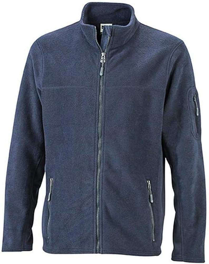 James and Nicholson Mens Workwear Fleece Jacket