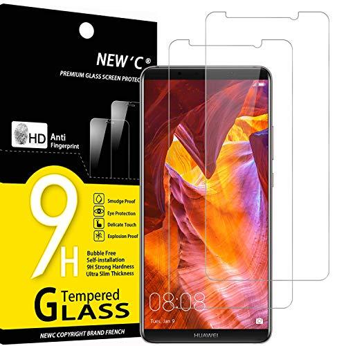 NEW'C 2 Pezzi, Vetro Temperato Compatibile con Huawei Mate 10 PRO, Pellicola Prottetiva Anti Graffio, Anti-Impronte, Durezza 9H, 0,33mm Ultra Trasparente, Ultra Resistente