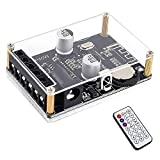 Stereo Bluetooth Power Amplifier Board, PEMENOL 12V 24V 30W 40W Mini Stereo Amp Receiver Module with Infrared Remote Control for DIY Speakers/Car Bluetooth Device