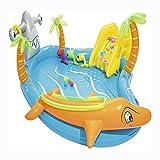 TYUIO Piscina con tobogán de Agua |Mejor Inflable Infantil con toboganes for bebés y niños |Grandes Juguetes al Aire Libre for la Actividad natación del Verano |Portátil Piscina del Patio Trasero for