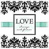 Love Always & Forever Square Dinner Plates   Wedding and Engagement Party