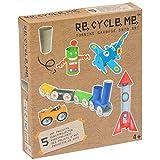 Re Cycle Me defg1050–Manualidades Diversión para 5Modelos Robot, avión, Tren, Auto, Cohete