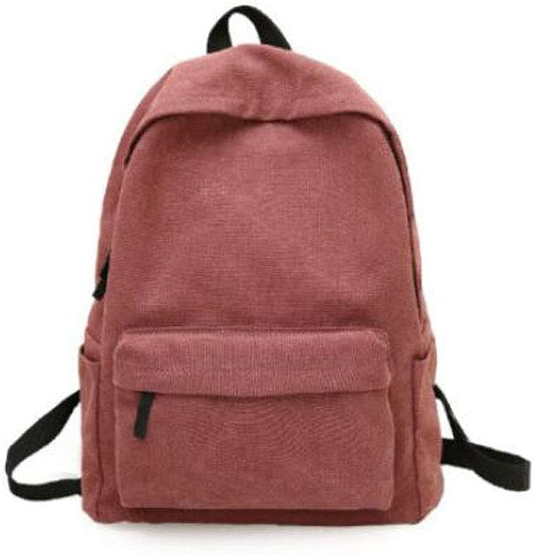 Large Capacity Vintage Canvas Backpack, Black, (color   Red)