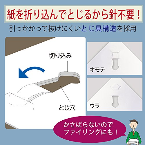 Kokuyo Harinacs japanischer heftklammernfreier Tacker für 10 Blätter weiß SLN-MSH110W - 3