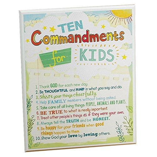 Abbey Gift Ten Commandments for Kids Plaque