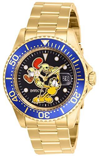 INVICTA Character Collection PC32A - Reloj de pulsera para hombre (40 mm, acero inoxidable), color dorado y negro