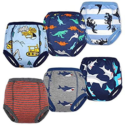 MooMoo Baby Cotton Training Pants Strong Absorbent Toddler Potty Training Underwear for Baby Boy 2T from MooMoo Baby