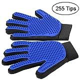 MUDEELA Pet Grooming Glove - Gentle Dog Grooming Glove - Efficient Grooming Gloves for Cats Dogs Horses with Long & Short Fur/Hair (1 Pair)
