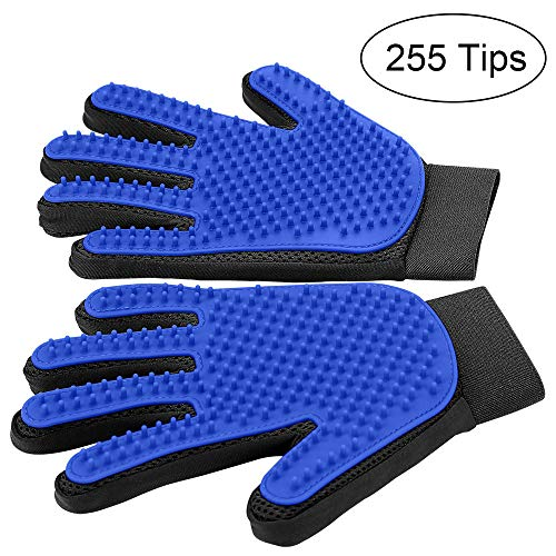 MUDEELA Pet Grooming Glove - Gentle Dog Grooming Glove...