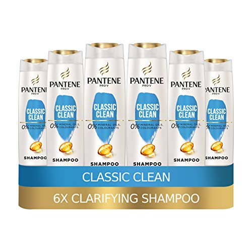Pantene Pro-V Classic Clean Clarifying Shampoo, 6 x 500 ml