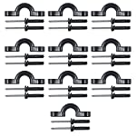 YYST 10 Pcs Kayak Nylon Bungee Deck Loops Tie Down Kayak Pad Eye with Rivets for Kayaks 5 You are bidding on 10 Pcs pad eyes with rivets. Quantity :10 pieces of pad eyes and 20 rivets. Color : black