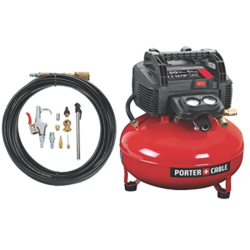 PORTER-CABLE Compressor, Oil-Free, UMC Pancake, 13-Piece Accessory...