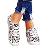 Slip On Running Sneakers for Women,Canvas Shoes Lace up Flat Soft Loafers Running Shoes Casual Summer Round Toe Sneakers
