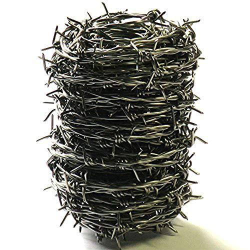 ダイドーハント (DAIDOHANT) ( 有刺鉄線 ) ステンレス バーブ [ SUS304 ] [太さ] #16 1.6 mm x [長さ] 20m 付属品: 又釘 (約15本) 55789