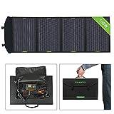 ECO-WORTHY - Panel solar portátil plegable de 100 W con controlador de carga con doble USB DC para portátil, tableta, iPad, iPhone, portátil, coche de 12 V, barco, RV, camping, senderismo, generador