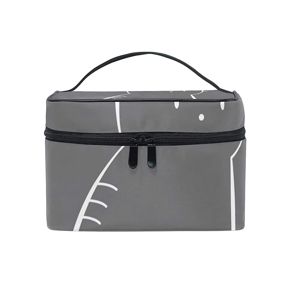 退化する残り物扱うメイクボックス 可愛い 猫アニマルキュート柄 化粧ポーチ 化粧品 化粧道具 小物入れ メイクブラシバッグ 大容量 旅行用 収納ケース