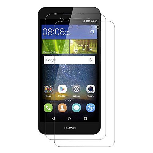 [2 Pack] Huawei P8 Lite Smart Schutzfolie, Touch Kompatibel Huawei P8 Lite Smart 5,0 Zoll Displayschutzfolie Panzerglas Displayschutz Screen Protector 9H Hardness Gehärtetem Glas