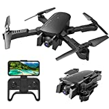 MIXI WiFi FPV Drones with Camera for Adults, Foldable RC Quadcopter Drone