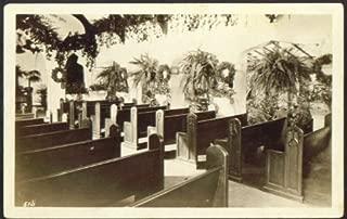 Little Church Flowers Forest Lawn Glendale CA RPPC postcard 1920s