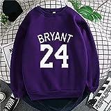Wanjun Kobe Bryant Sudadera Traje De Entrenamiento Uniforme De Baloncesto Suéter Deportivo Temporada De Otoño E Invierno Púrpura Amarillo Azul Tres Colores,A-XL