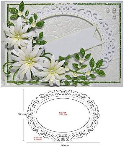 SELDIES Etched Oval Frame Dies Mold Max 51% OFF Me Credence Card Making Scrapbook for