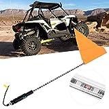 Whip Light, 3ft Whip Lights DC12V LED Antenna Flag Pole Lamp Fit for ATV UTV Car Replacement Powersports Accessory Lighting