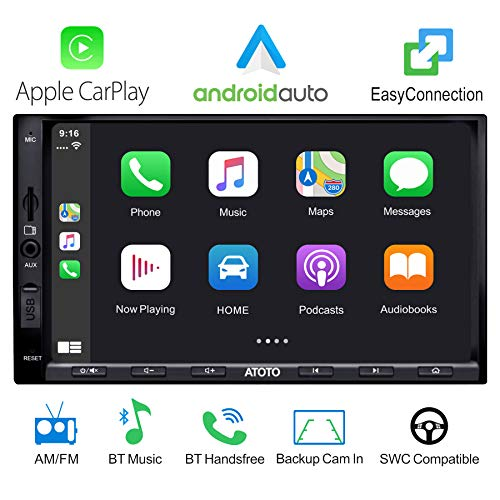 ATOTO Digitales Doppel-Din-Media-Autoradio - SA102 Starter (YS102SL) CarPlay- und Android Auto-Empfänger, Bluetooth, Radio, USB-Video und -Audio