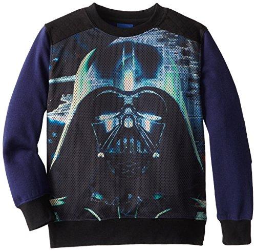Star Wars Boys' Crewneck Sweatshirt, Navy/Black, 5/6