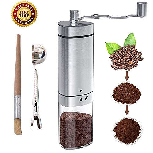 ReLX Macina caffè Manuale, Portatile in Acciaio Inossidabile Mano macinacaffè macina (B)