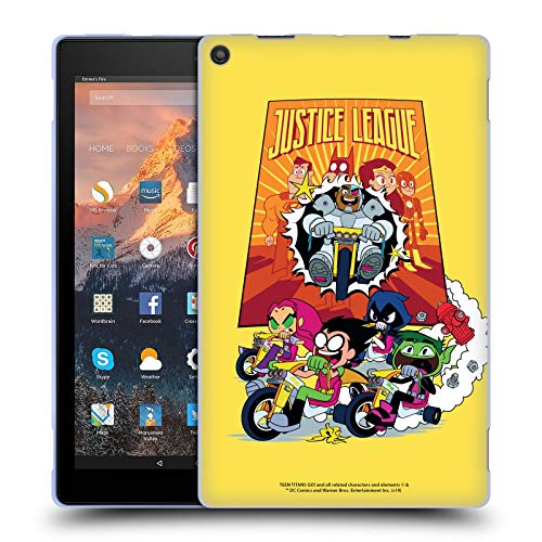 Official Teen Titans Go! To The Movies Justice League 2 Hollywood Graphics Soft Gel Case Compatible for Amazon Fire HD 10 (2017)