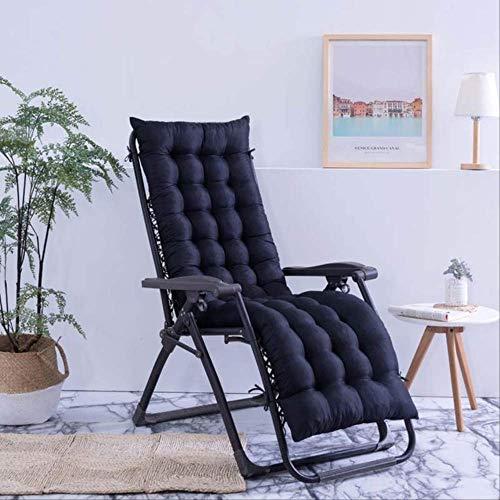 NoNo Outdoor Sun Lounger Tuin Patio Summer Lounge stoel kussen Recliner matras Stoelen Pad rugpijn Relaxer kussen 48x155cm zwart