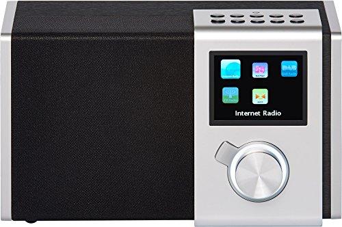 """NOXON 15200 NOVA M Internet-/DAB+ Radio (WLAN,LAN,DAB,DAB+,UKW, 8,13cm (3,2\"""") TFT Farb Display, Fernbedienung, USB-,Line-In,Line-Out,Kopfhörer-Anschluss, Weck-Schlummer Funktion, kostenlose App) silber"""