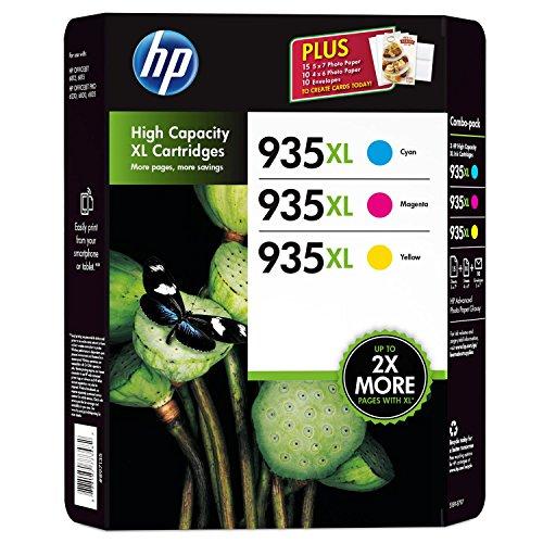 HP 935XL High Capacity Ink Cartridge Color Combo Pack - Cyan, Magenta, Yellow