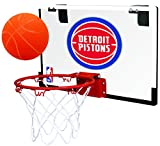 Rawlings NBA Game On Polycarbonate (PC) Mini Basketball Hoop Set, Detroit Pistons
