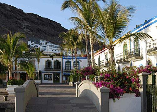 Gran Canaria gästhus – hett säljande trä högkvalitativt pussel färg pussel leksak 1 000 stycken kan dekoreras