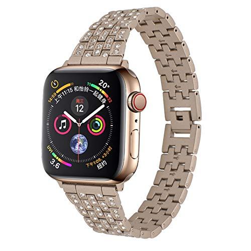 Correa de Metal para Apple Watch Compatible con iwatch Series 6 / SE / 5/4/3/2/1, Correa Deportiva para Apple Watch Correa de Pulsera de Acero Inoxidable de Repuesto,B,38/40mm