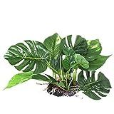 Fliyeong - Adorno para acuario, color verde artificial, plástico artificial, decoración práctica y popular