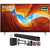 Sony XBR85X900H 85 inch X900H 4K Ultra HD Full Array LED Smart TV (2020 Model) Bundle with Deco Gear Home Theater Soundbar with Subwoofer, Wall Mount Accessory Kit, 6FT 4K HDMI 2.0 Cables and More
