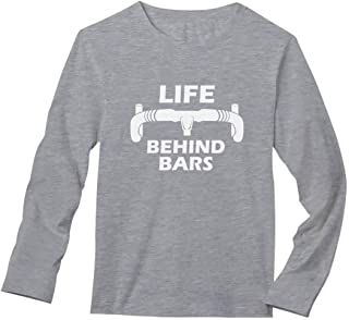 Life Behind Bars - Gift for Bike Riders Bicycle Funny Long Sleeve T-Shirt