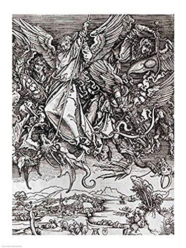 The Poster Corp Albrecht Durer – Str. Michael mit dem Drachen eine lateinische Ausgabe von Kunstdruck (45,72 x 60,96 cm)