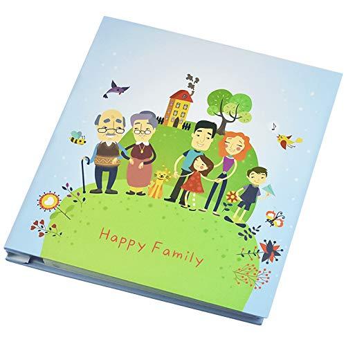 Chstarina 28 * 27cm Album Fotografico Scrapbook - Happy Family - 40 Pagine, Album Portafoto Autoadesivo Scrapbooking Foto Album